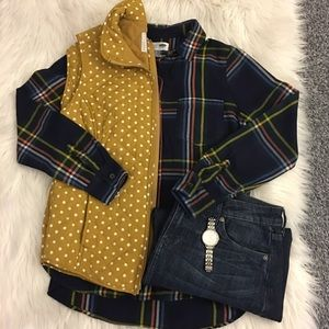Plaid blouse   Old Navy -multicolored